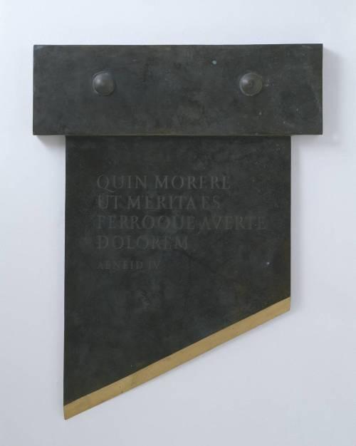 Quin Morere 1991 by Ian Hamilton Finlay 1925-2006