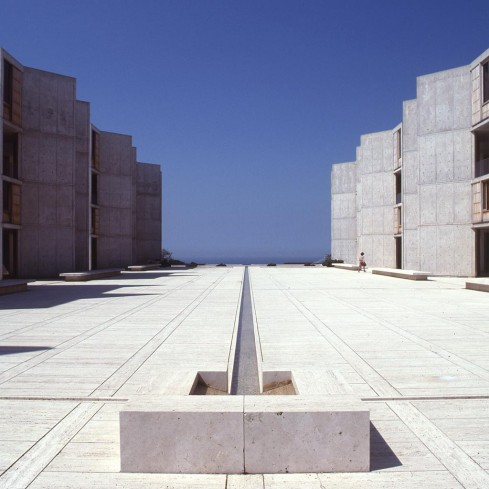 Salk Institute in La Jolla, California, Louis Kahn, 1959–65 © The Architectural Archives, University of Pennsylvania, John Nicolais